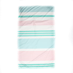 Microfiber Beach Towel - Pink and Mint