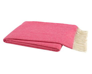 Italian Herringbone Throw - Cosmo Pink