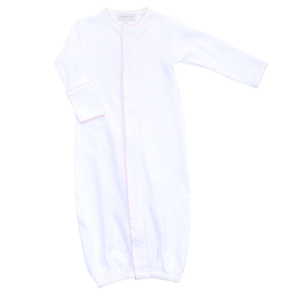 Magnolia Baby White with Pink Trim Converter Gown
