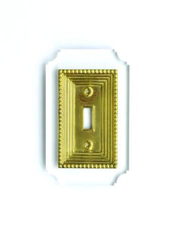Light Switch Plate : Brass and Clear