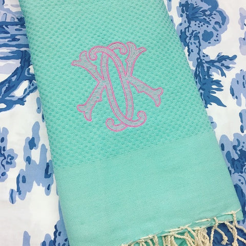 Turkish Beach Towel - Aqua