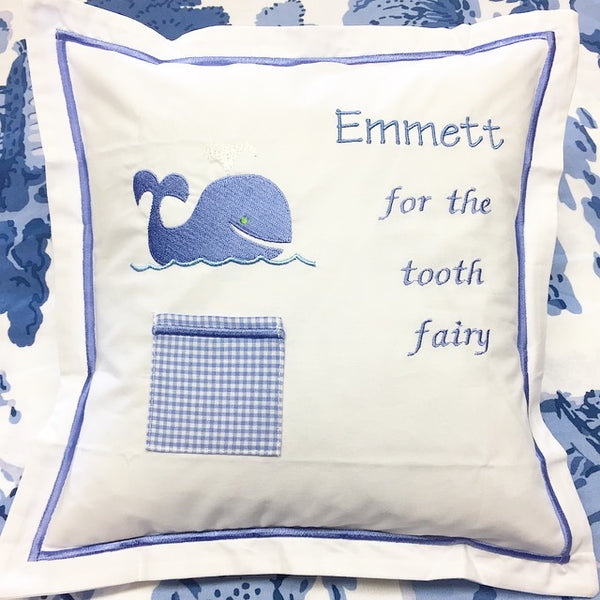 Tooth Fairy Pillow - Blue Whale