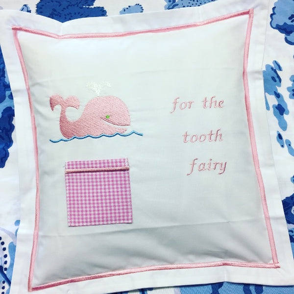 Tooth Fairy Pillow - Pink Whale