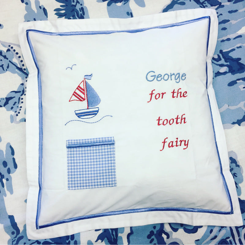 Tooth Fairy Pillow - Sailboat