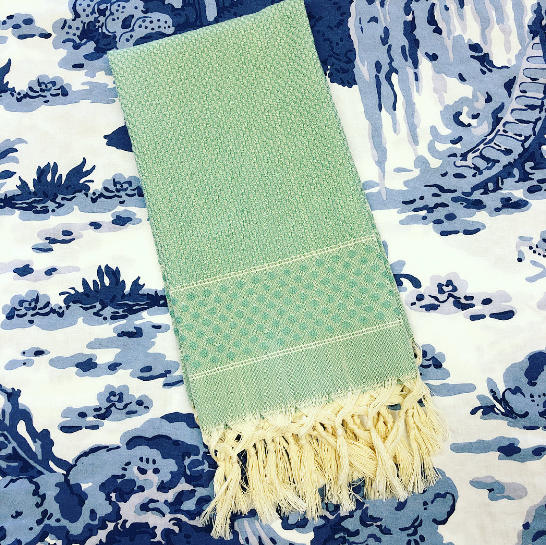 Green Dot Turkish Towel
