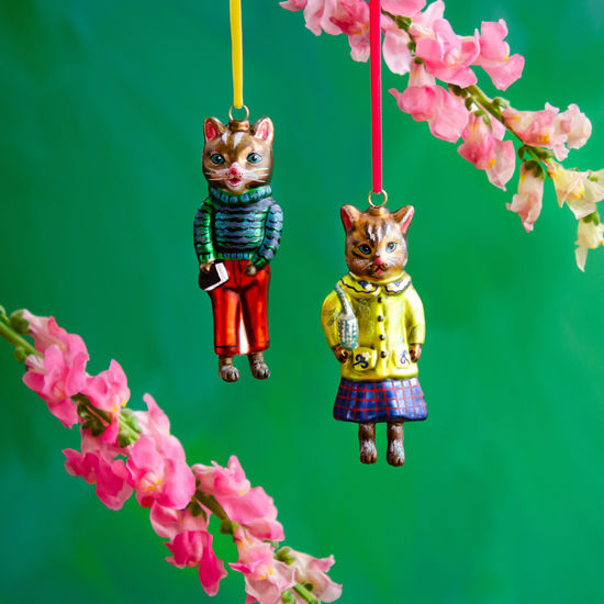 Cats in Clothes Ornaments
