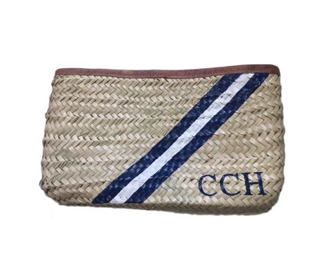 Painted Straw Clutch