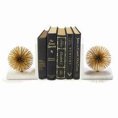 Gold Starburst Bookends : Set of Two