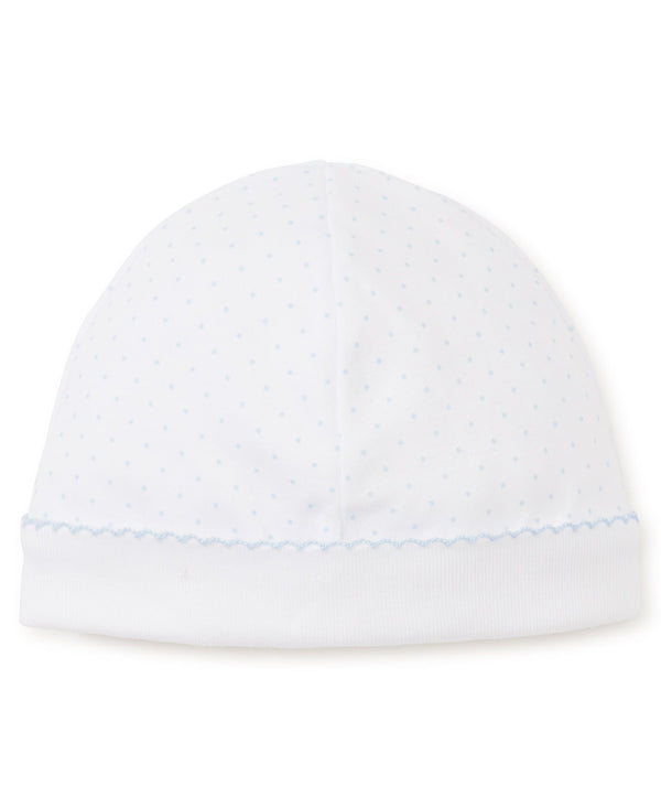 Kissy Kissy White with Light Blue Dot Hat