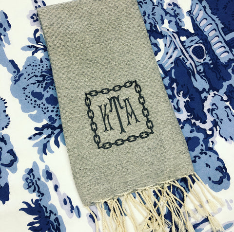 Fouta Guest Towel Grey