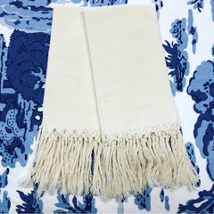 Pienza Guest Towel with Fringe - Ivory