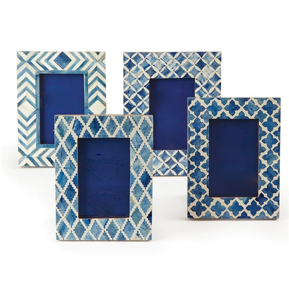 Blue Bone Inlay Picture Frames ( 4 Styles )