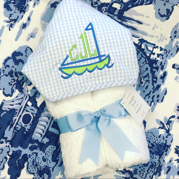 Everykid Towel - Blue Gingham