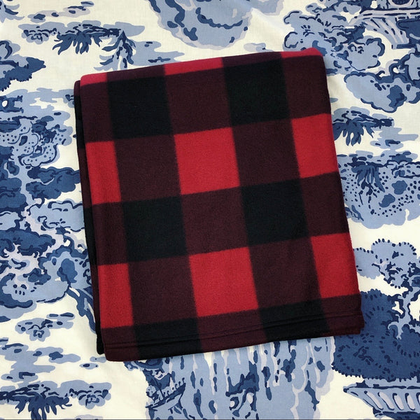 Fleece Blanket - Red Buffalo Check
