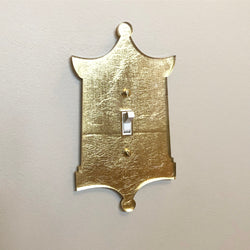 Single Gold Pagoda Switch Plate Cover