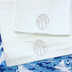 Ivory Cotton Hemstitched Sheets