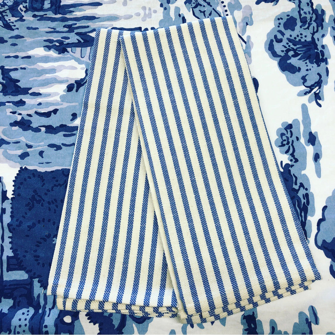 French Blue Stripe Kitchen Towel
