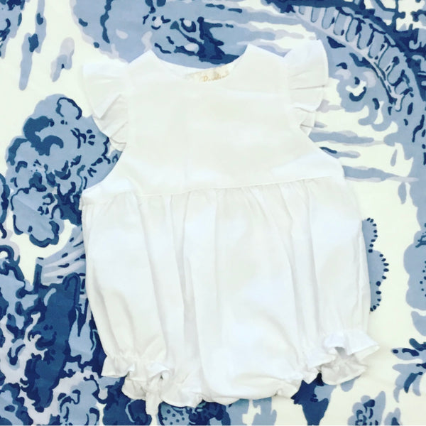 White Ruffle Bubble