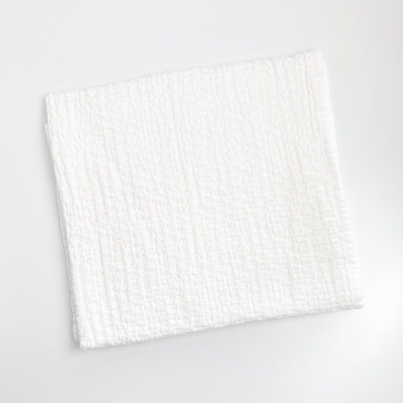 Stonewashed Basket Weave Baby Blanket - White