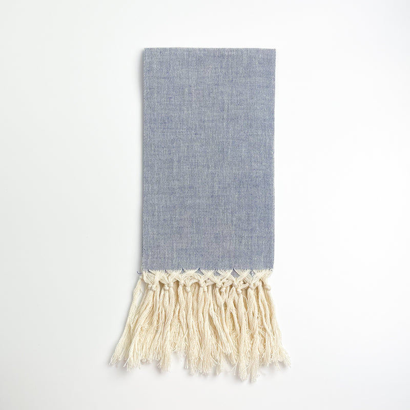 Guest Towel with Fringe - Blue