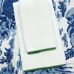 Banded Border Bath Towels