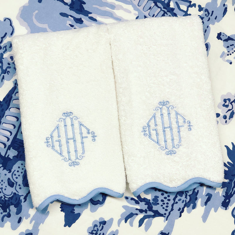Lucerne Scalloped Bath Towels