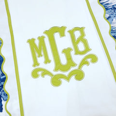 Scalloped Pique Shower Curtain