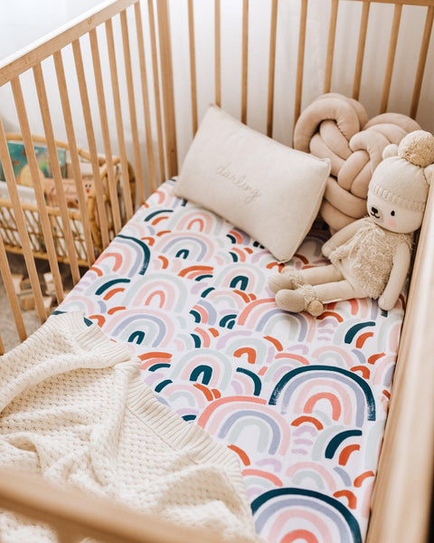 RAINBOW BABY I FITTED COT SHEET