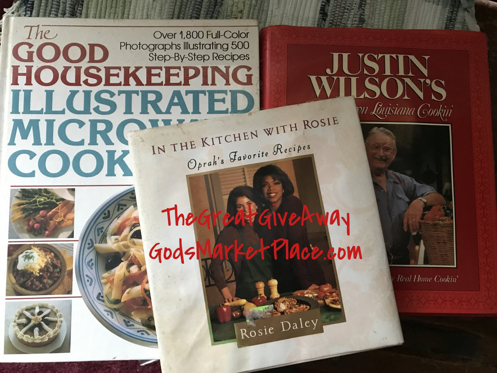 Cookbooks (set of 3)