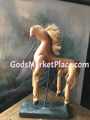 Antique Wooden Hinged Horse for Art Students