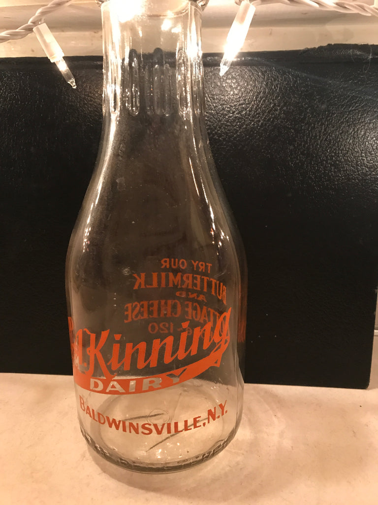 Antique Milk Bottle - L.A. Kinning (QT)