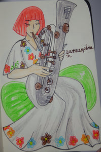 Sarrusophone Instrument Anime Drawing
