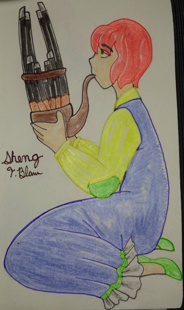 Sheng Anime Music Instrument Drawing