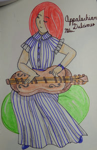 Appalachian Dulcimer Anime Drawing