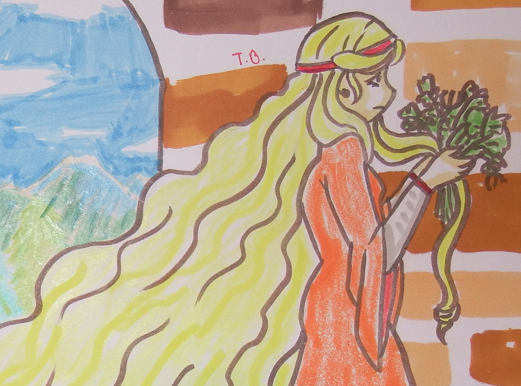 Rapunzel Anime Drawing and Video