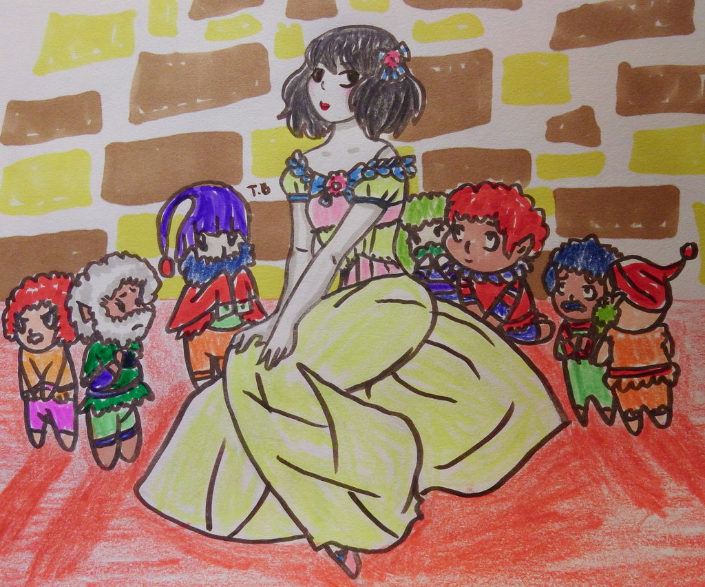 Masquerade and Snow White Anime Drawings