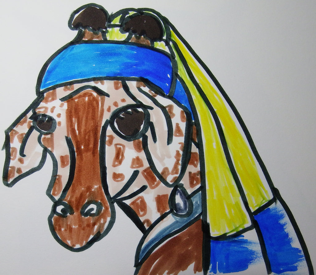 The Giraffe with the Pearl Earring + 2 More Silly Drawings