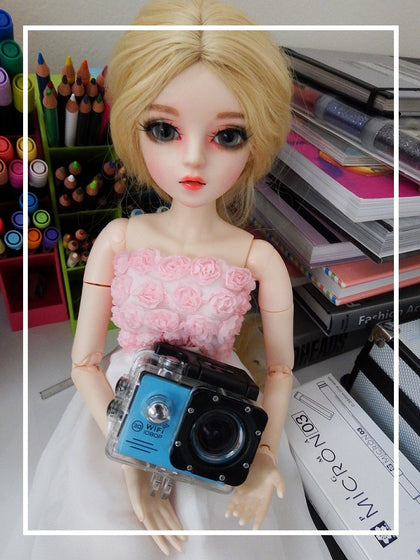 artsy sister,bjd doll,camera