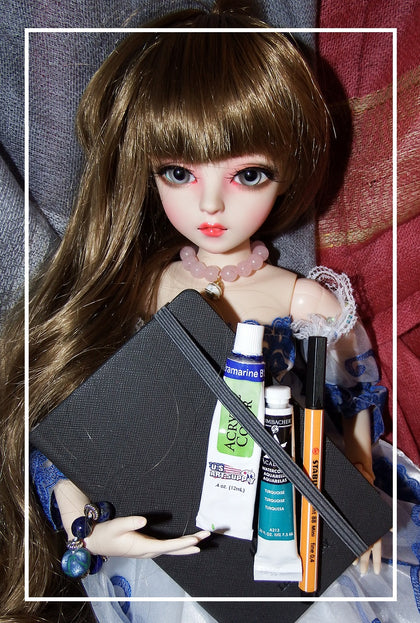 artsy sister,bjd doll,art supplies