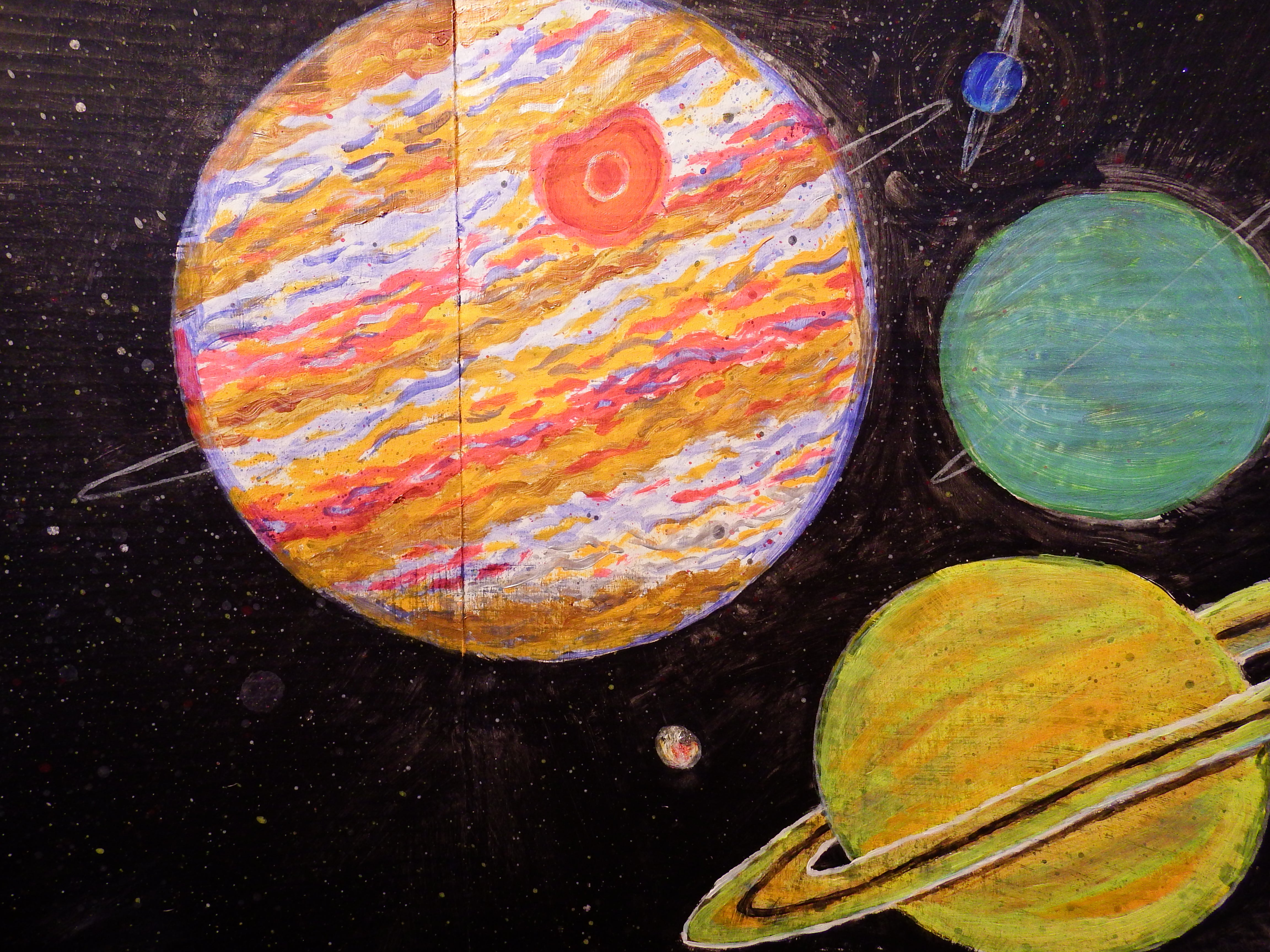 artsy sister, space art, acrylic