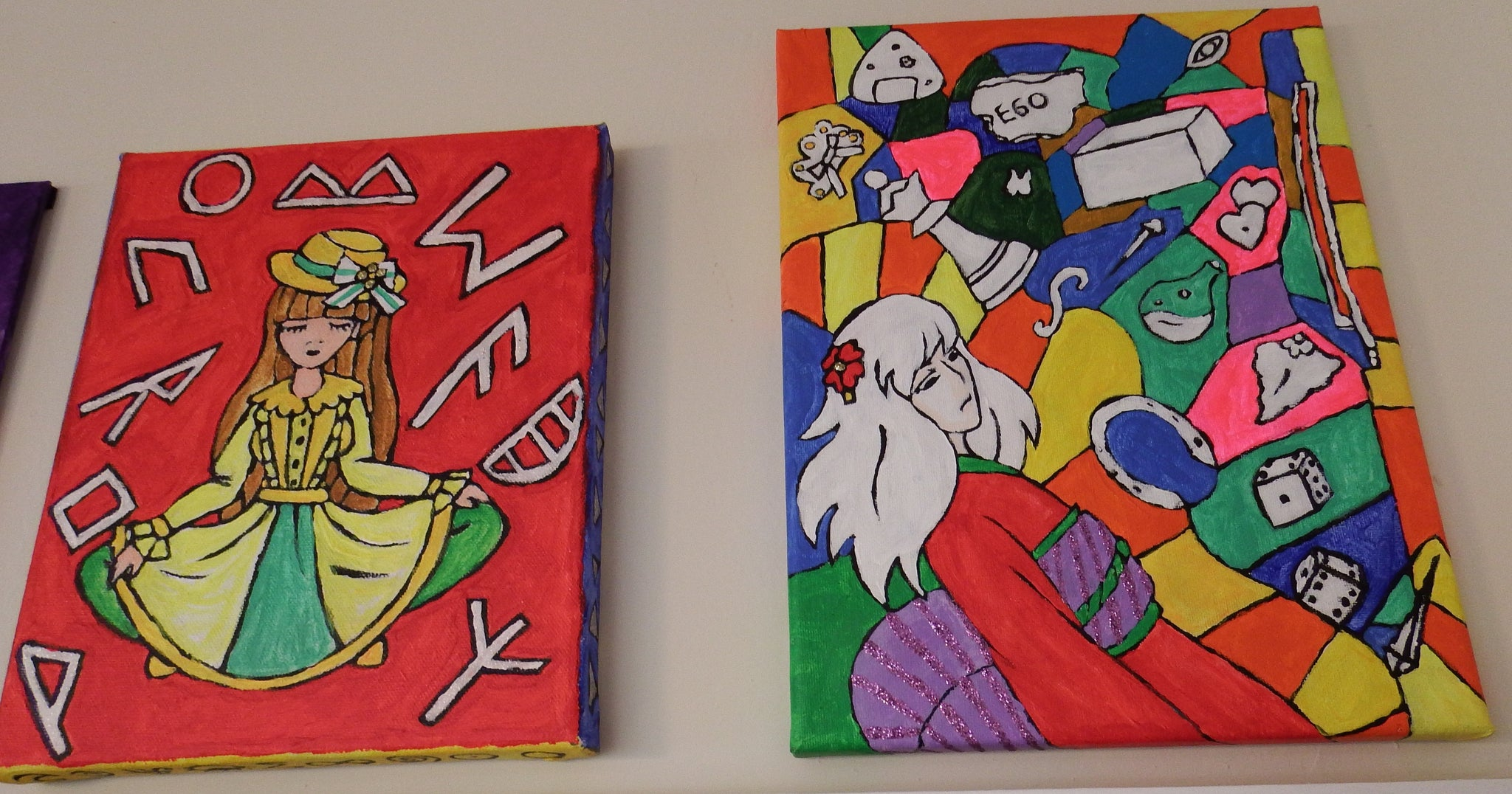 artsy sister,stretched canvas,wrapped canvas