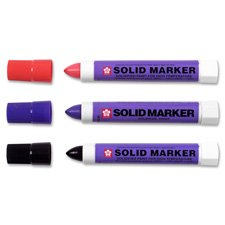 Solid Marker, Twist-action, 13mm, White, Sold as 1 Each