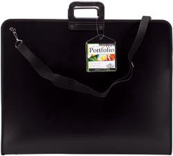 Royal Brush 17-Inch by 22-Inch Nylon Portfolio, Black