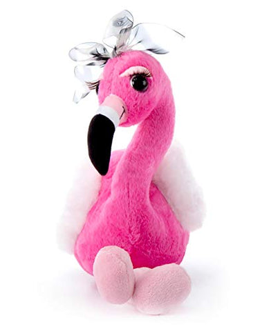 The Petting Zoo, Lash'z Flamingo Stuffed Animal, Gifts for Girls, Flamingo Plush Toy 14 inches