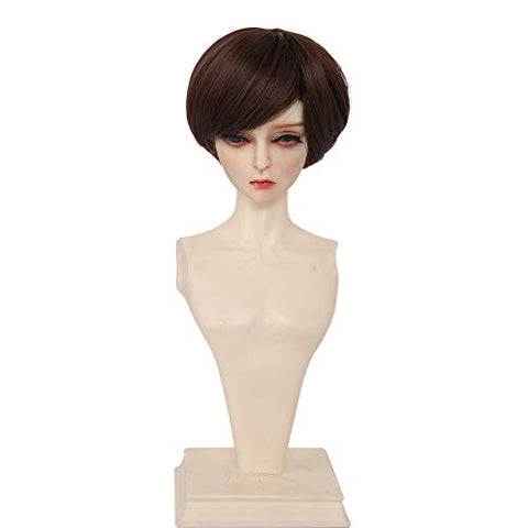 AIDOLLA 9-10 Inch 1/3 BJD SD Doll Short Wig- Girls Gift Temperature Synthetic Fiber Long Curly Synthetic Hair