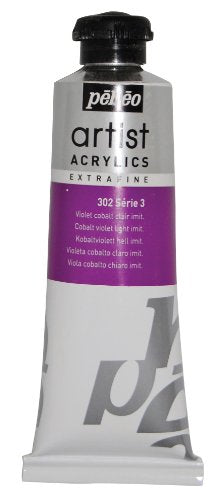Pébéo Extra Fine Artist Acrylic Art Paint, Light Cobalt Violet Imitation, 60ml