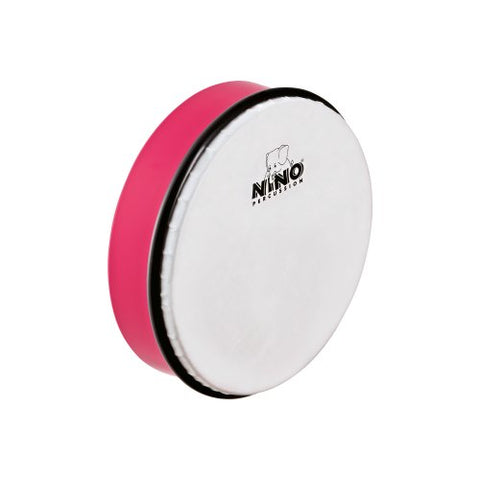 "Nino Percussion 8"" Hand Drum with Wooden Beater, Strawberry Pink-NOT MADE IN CHINA-ABS Plastic and Synthetic Heads, for Classroom Music, 2-YEAR WARRANTY, (NINO45SP)"