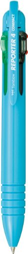 Tombow Reporter 4 Compact Pen, Light Blue, 1-Pack