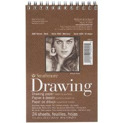 Bulk Buy: Strathmore (3-Pack) Medium Drawing Spiral Paper Pad 4in. x 6in. 24 Sheets 62400100