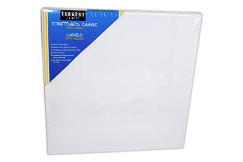 Sargent Art 90-2017 12x12-Inch Stretched Canvas, 100% Cotton Double Primed